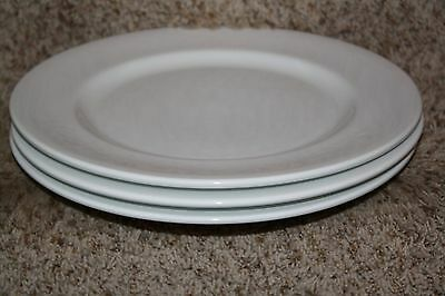 LOT of 3 SYRACUSE CHINA Solid WHITE DINNER PLATES With Rim RESTAURANT WARE