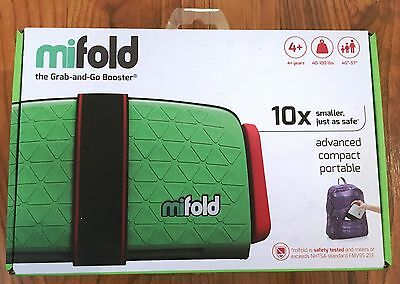 Mifold Grab-and-Go Booster Seat NEW Lime Green FREE Shipping