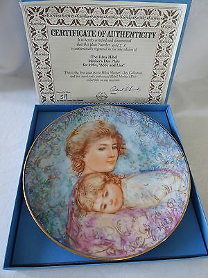 Knowles EDNA HIBEL Mother's Day Plate 1984 ABBY AND LISA