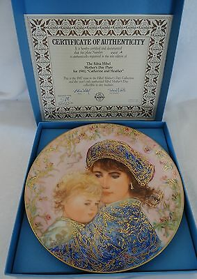 Knowles EDNA HIBEL Mother's Day Plate 1987 CATHERINE AND HEATHER
