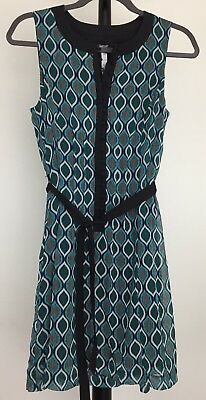 "NEW Kensie size S lined sleeveless dress ""Tahiti Teal"" design NWT"