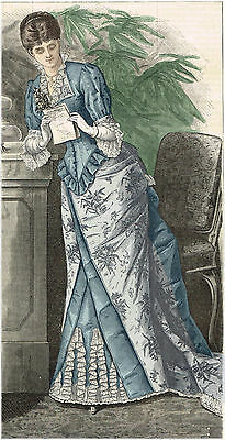 Victorian Pattern for 1882 Brocade Dress - Sized for you