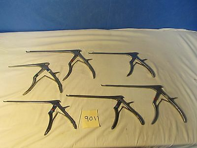 Lot of Assorted Kerrison Rongeurs Surgical Instruments (QTY-6)