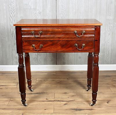 New York Empire Mahogany 2-Drawer Stand