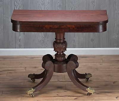 Antique Federal Mahogany Game Table