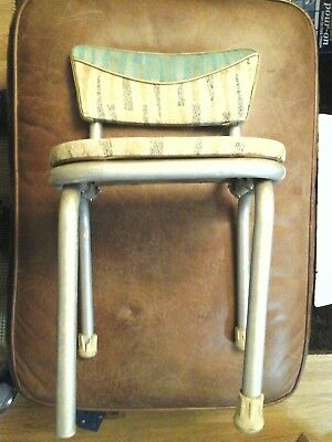VINTAGE OLD CHILDS CHAIR CHROME VINYL SEAT DINNER STYLE 1950s