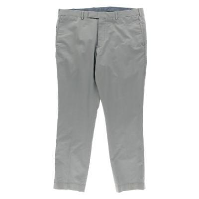 Polo Ralph Lauren 0512 Mens Blue Slim Fit Solid Chino Pants Trousers 36/30 BHFO