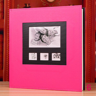 600 Pockets Slip In Leather Jumbo Photo Album 4R/4 x 6 Inches Photos