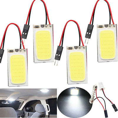 White 48 SMD COB LED T10 4W 12V Car Interior Panel Light Dome Lamp Bulb #