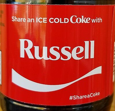 Brand New 2017 Share A Coke With Russell 20 Oz Coca Cola Collectible Bottle