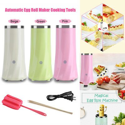 220V Electric Automatic Egg Roll Maker Boiler Cooking Omelette Sausage Machine