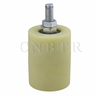 6x8cm PP Steel Bearing Guiding Wheel M12 Yellow Silver