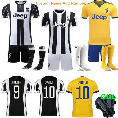 2017-18 Soccer Kits Jersey Short Sleeve Sportwear Suit Kids Boy Youth +Socks