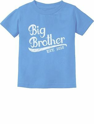 Gift for Big Brother 2018 Toddler Infant Kids T-Shirt Boys New Born Siblings 4T