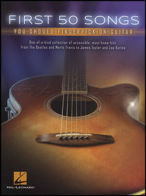 First 50 Songs You Should Fingerpick on Guitar TAB Music Book Acoustic Beatles