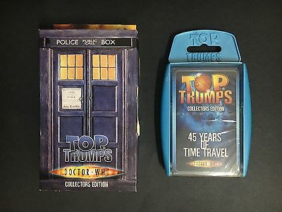 """Doctor Who """"top Trumps"""" Collectors Edition """"45 Years Of Time Travel"""" From 2004"""