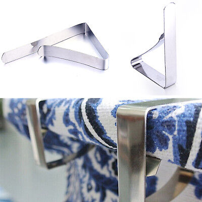 Stainless Steel Tablecloth Clip Table Cover Cloth Clamps Holder For Party Banque