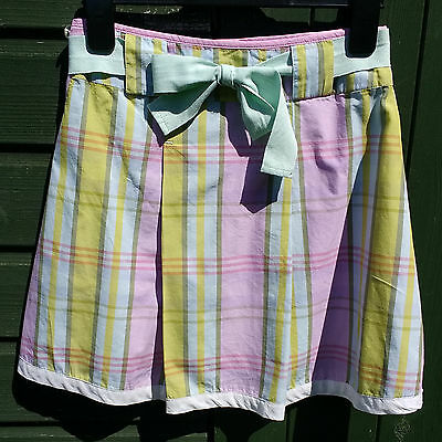 Joules 'Felicity Flare' Lilac Pink & Green Mix Cotton Skirt Age 7