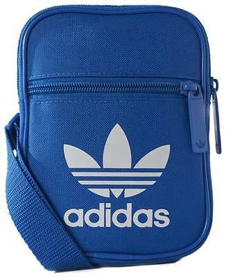New Men's Adidas Adidas Trefoil Festival Bag Blue/white Accessories Bags