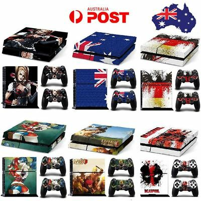 New Decal Skin Sticker Cover For PS4 PlayStation 4 Console+2 Controller Vinyl AU