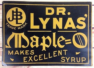 Dr. Lynas' Maple O Sign Advertisign 10 X 14 Cardboard General Store Decor