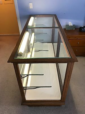 6' Long Vintage Oak Display Case