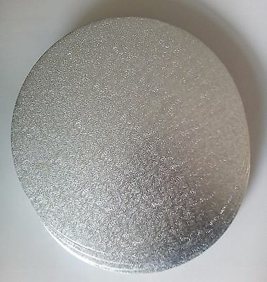 Cake Board Drum Silver Round 3 mm Thick 12 Inch Strong Base Cover Lightweight