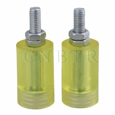 3.6x6cm PP Steel Bearing Guiding Wheel M12 Transparent Yellow
