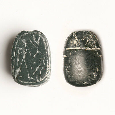 Phoenician Stone Figural Scarab Amulet
