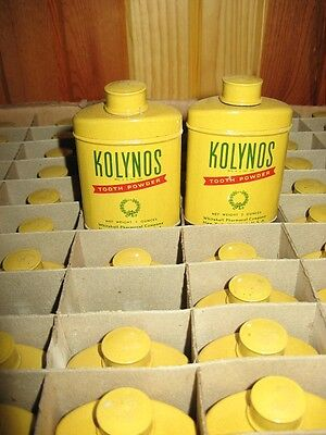 WWII Military Kolynos Tooth Powder Whitehall Pharmacal Co Tin with Contents