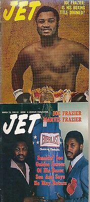 LOT of (2)JOE FRAZIER JET MAGAZINES 1/18/1973 3/19/1981 VERY GOOD COND no labels