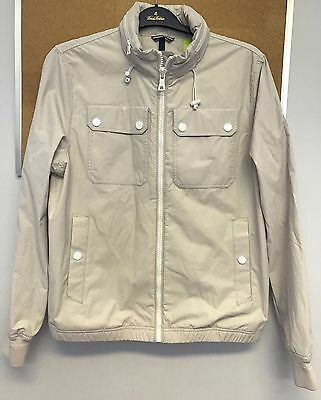 NWT Tommy Hilfiger Men's Water Stop Bomber JACKET Stone Size S M