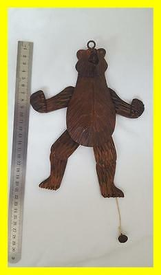 C.1920 Carved Black Forest Large Dancing Bear Toy/figure,glass Eyes.