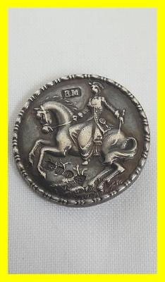 Hanau Silver Button,lady On Horse Back,berthold Muller,chester 1900
