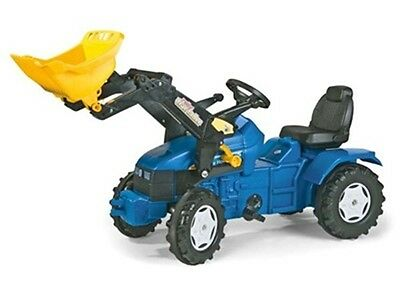 New Rolly Toys New Holland TD 5050 Pedal Tractor With Frontloader - Age 3-8yrs