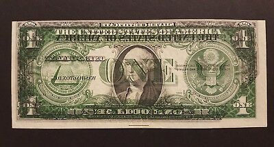 (ERROR) 1935E $1 Silver Certificate Note with Dark Offset Printing Error of the