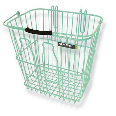 Basil Bottle Steel Wire Removable Rear Bicycle Basket Green