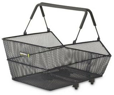 Basil Cento Steel Mesh Removable Rear Bicycle Basket Grey