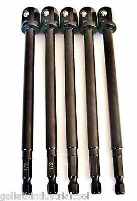 "5 GOLIATH 6"" x 1/2"" IMPACT POWER EXTENSION BARS IPE6-12 SOCKET DRILL SCREW BITS"
