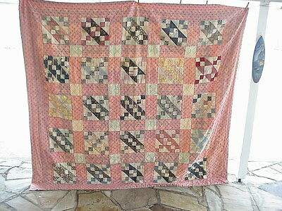 "VINTAGE or ANTIQUE QUILT 80""X74"" APPROX. VERY NICE.,"
