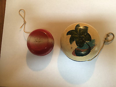 Vintage DUNCAN YO YO Wood Red and Other from Hawaii