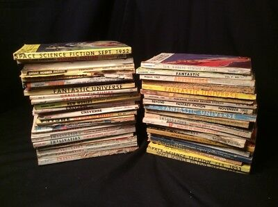 Science Fiction Lot of 42 1950s Magazines If Fantastic Universe Imagination UFO