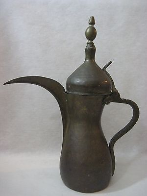 Old Vintage Large Islamic Turkish Style Copper/brass Hallmarked Teapot/pitcher