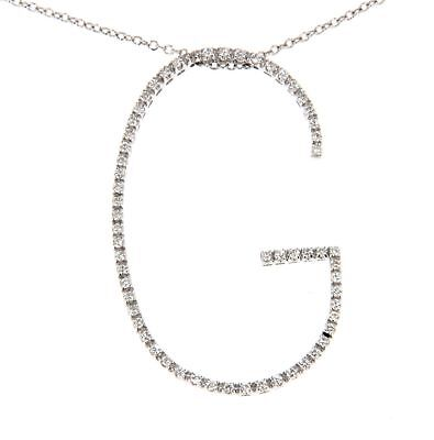 Gioielli Preziosi NECKLACE WHITE GOLD, DIAMONDS J718