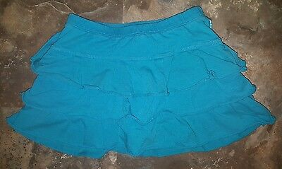 The Childrens Place Blue Tiered Skirt Skort Size 6x 7