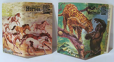 RARE! 1981 FOLD-OUTS 69 - HORSES & WILD ANIMALS BY SHELLEY GRAPHICS LTD Lot of 2
