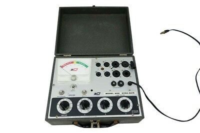 B&K DYNA-QUIK 600 Tube Tester With Chart And Bulbs WORKING