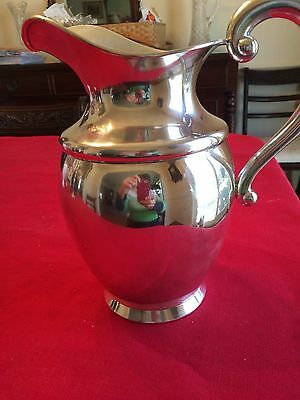 Antique Sterling Silver Engraved Mason American Fenniman Pitcher Dated 1919