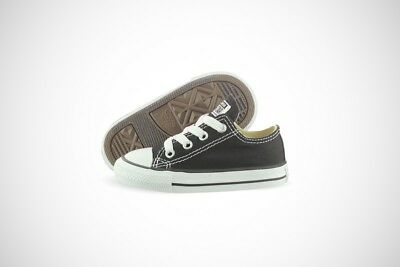 Converse All Star Chuck Taylor OX 7J235 Black Canvas Shoes Medium Infant Toddler
