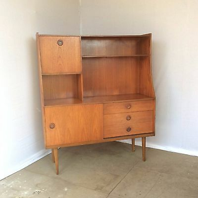 Mid century 1960's Teak sideboard / high board / wall unit